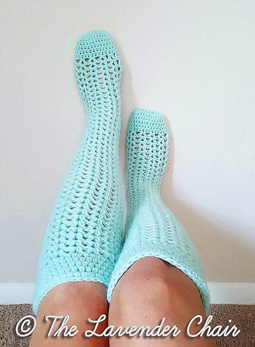 Valerie's Knee High Crochet Socks