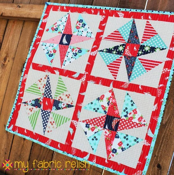 Wind Sail Mini Quilt - pinwheel quilt patterns