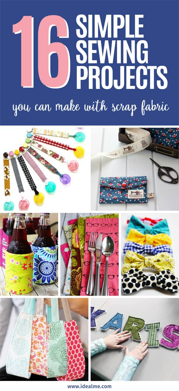 16 Simple Hairstyles For Long Hair: 16 Simple Sewing Projects You Can Make With Scrap Fabric
