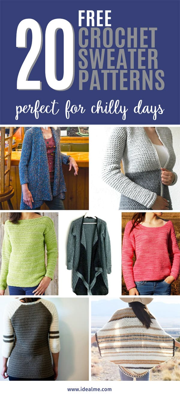 20 crochet sweater patterns