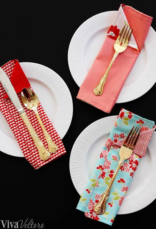 5-Minute Cloth Napkins - simple sewing projects