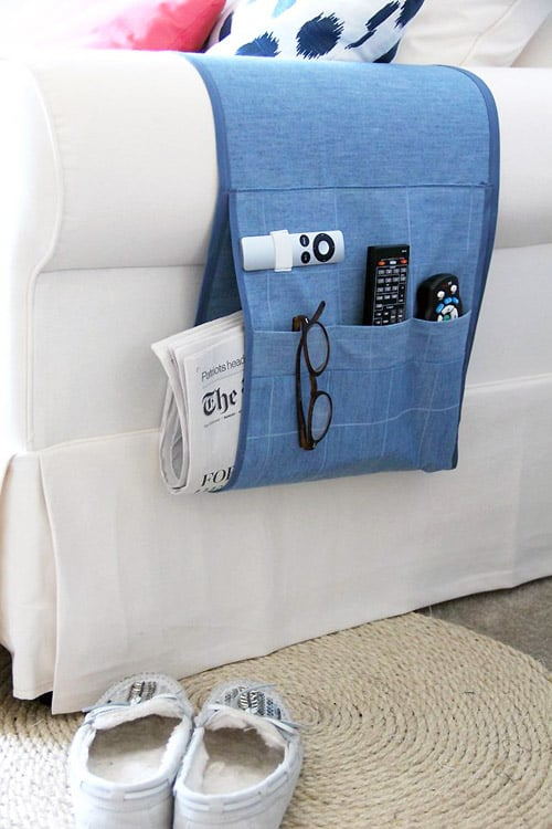 Arm Chair Remote Holder - DIY sewing projects