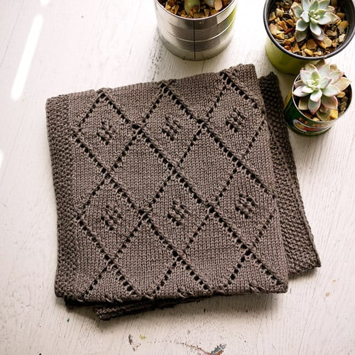 Chocolate Parfait - free baby blanket knitting patterns