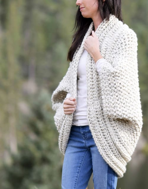 Cozy Blanket Cardi - free crochet sweater patterns