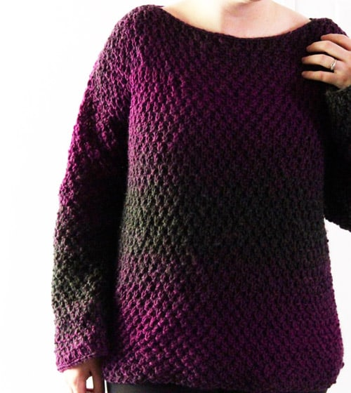 Easiest Pullover - free crochet sweater patterns