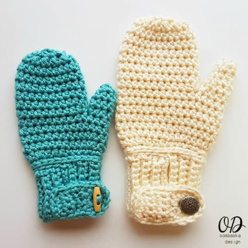 Easy-On - crochet mittens