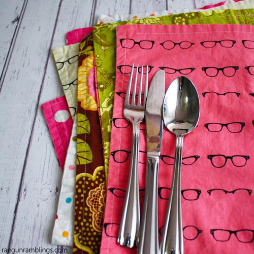 Reversible Placemats - simple sewing projects
