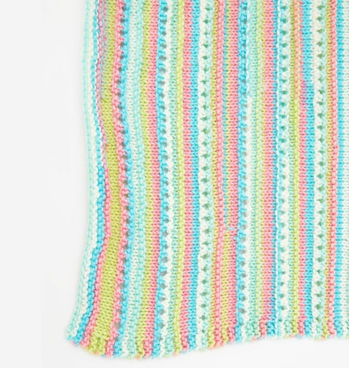 Self-Striping - free baby blanket knitting patterns