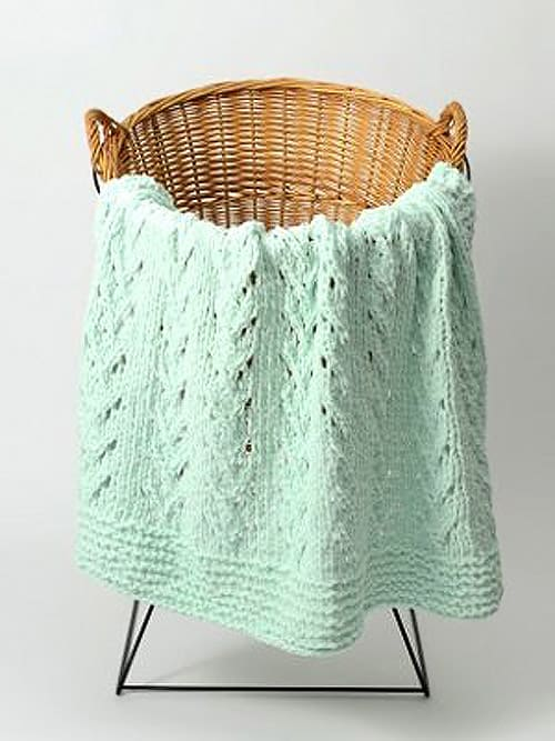 Soft Vines - free baby blanket knitting patterns