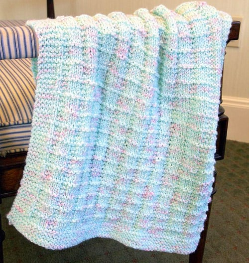 Textured - free baby blanket knitting patterns