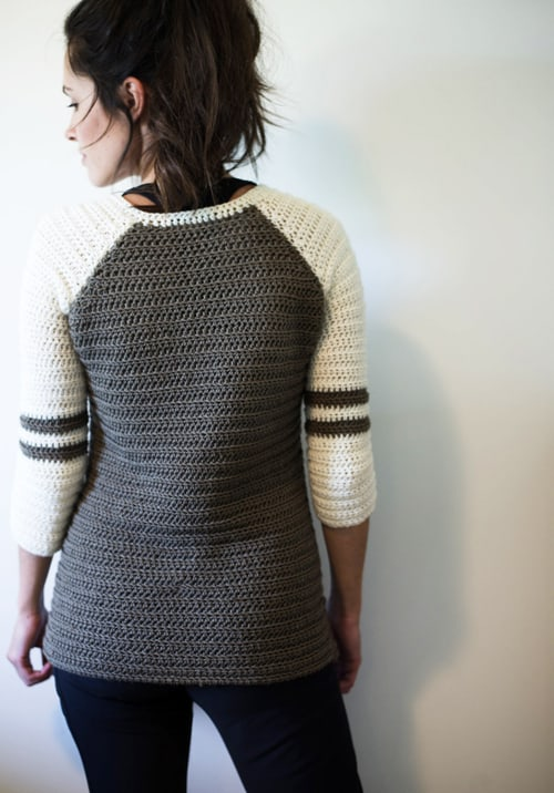 Varsity - free crochet sweater patterns