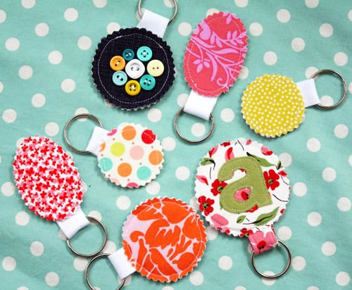 Whimsical Key Chains - simple sewing projects