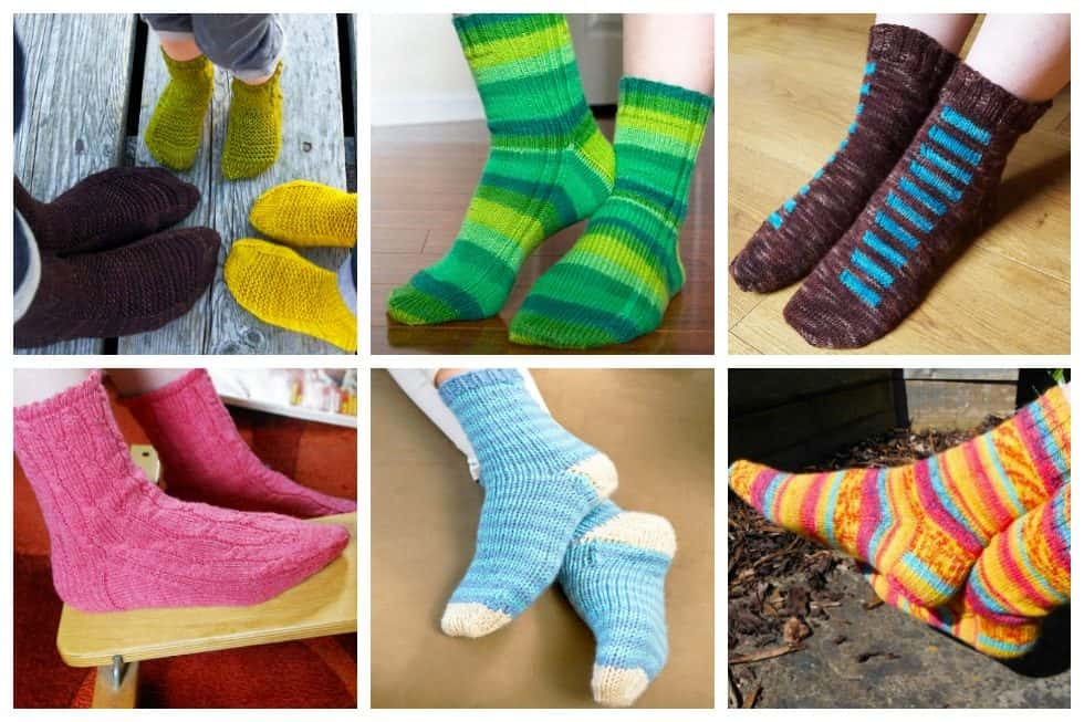 12 Sock Knitting Patterns for Beginners Using Circular Needles ...
