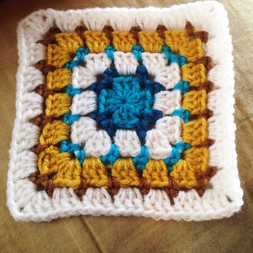 Block Stitch Square - easy crochet squares
