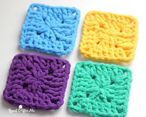 Bright & Bulky - easy crochet squares