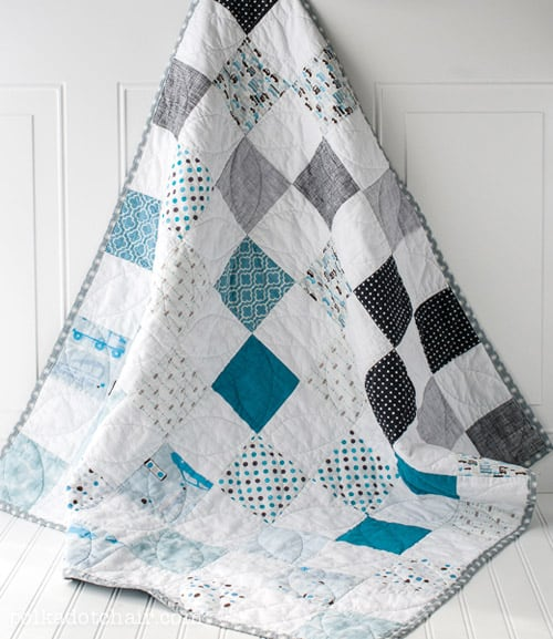60 Easy Baby Quilt Patterns To Make For Your Pregnant Friends Ideal Me Unique Easy Baby Quilt Patterns