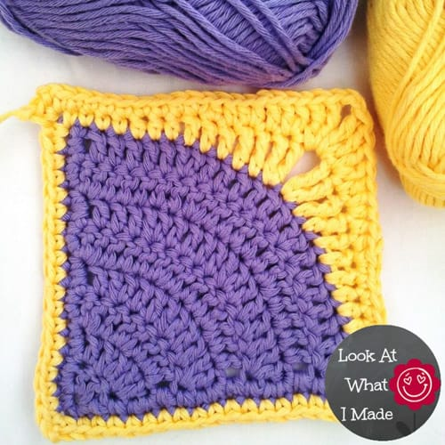 Iced Pie Square - easy crochet squares