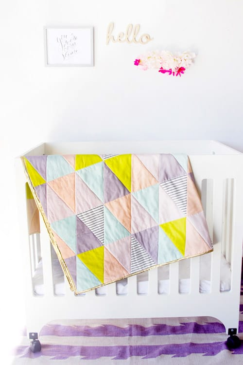 One Hour Triangle - easy baby quilt patterns