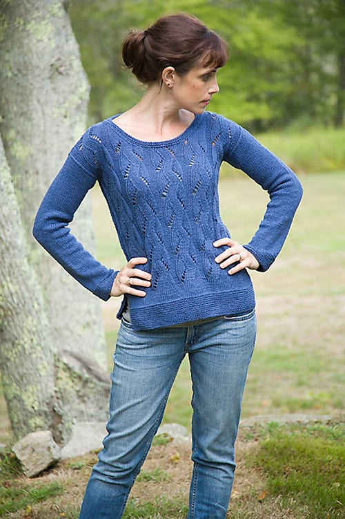 Springtime Pullover - knit sweater patterns
