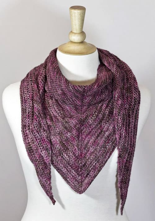 Vanilla Scarf - one-skein knitting patterns