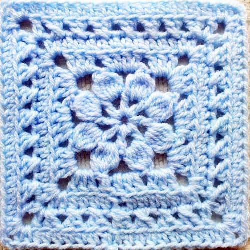 Walled Garden Square - easy crochet squares