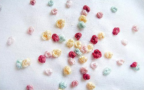 French Knot - basic embroidery stitches
