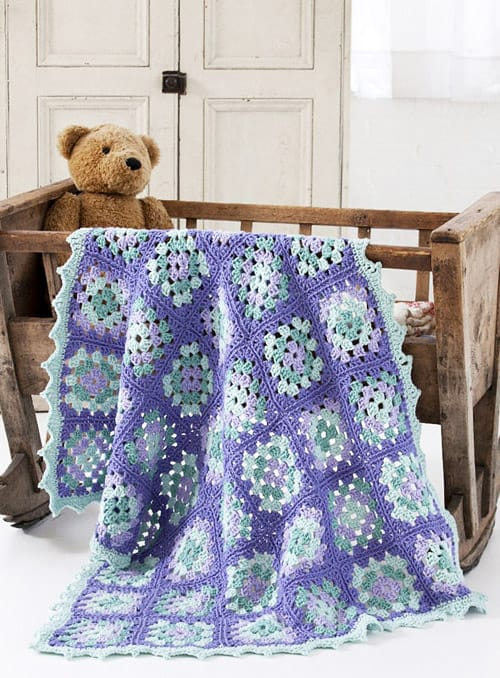 11 Modern Granny Square Crochet Baby Blanket Patterns Ideal Me
