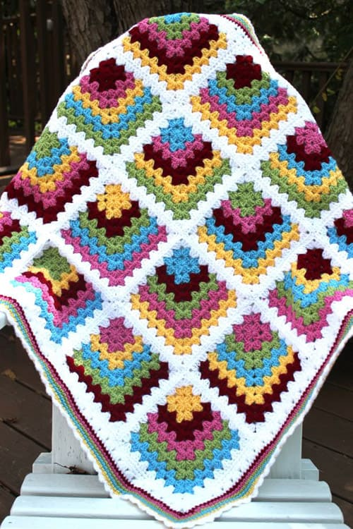 Mitered - crochet baby blanket