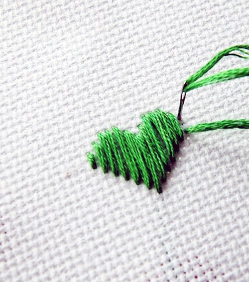 Satin Stitch - basic embroidery stitches