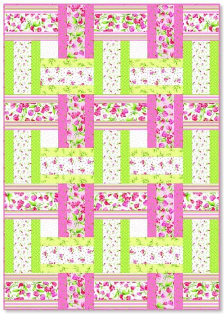 Sweet Pea Sweet Weave - strip quilt patterns