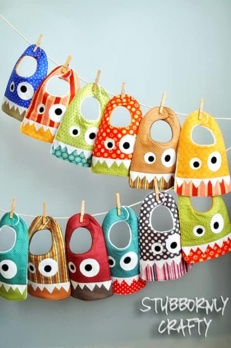 Monster Bib - things to sew