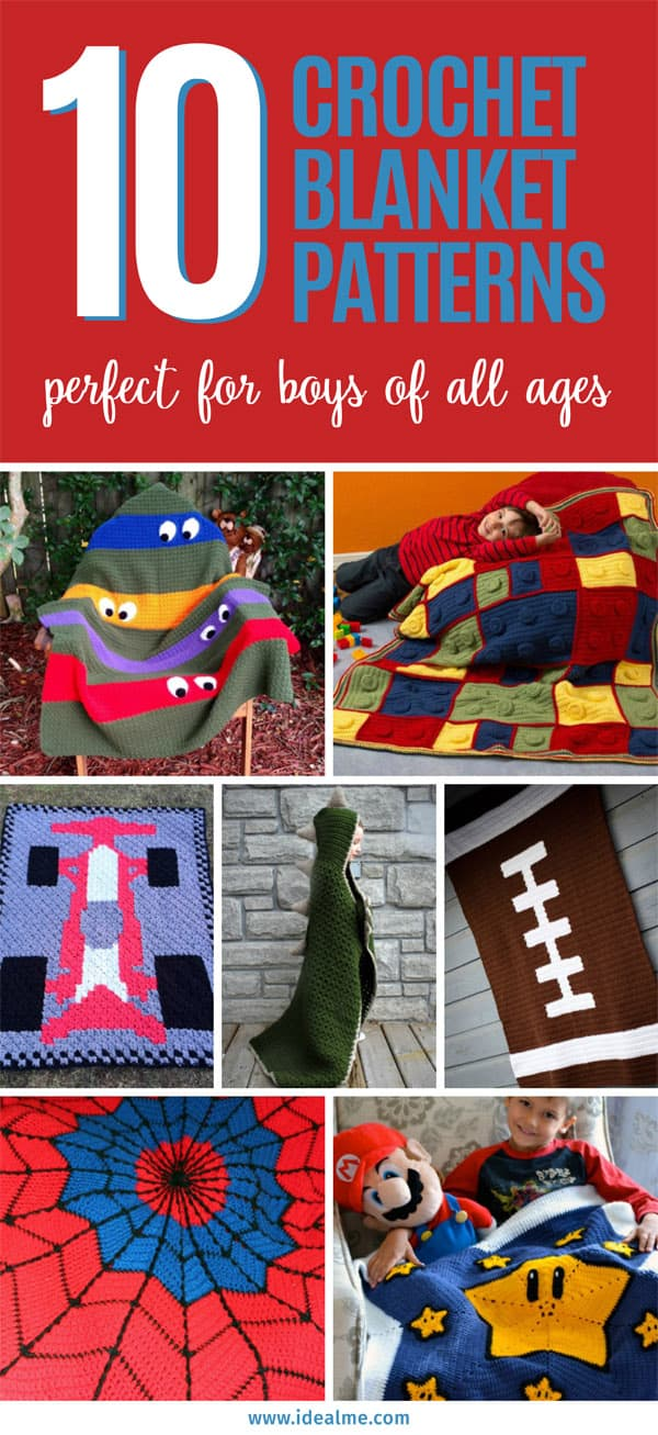 There are tons of free crochet blanket patterns out there but here, we've found the easiest and best ones for little boys! #freecrochet #crochetpatterns #crochetblankets #crochetlove