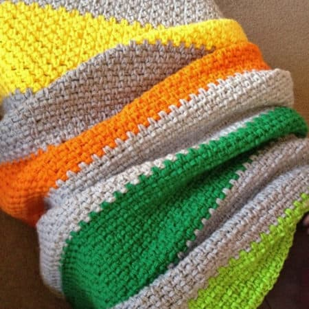 12 Simple Crochet Patterns For Colorful Blankets Ideal Me