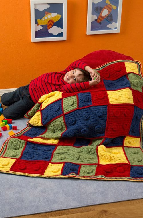 Building Blocks - free crochet blanket patterns
