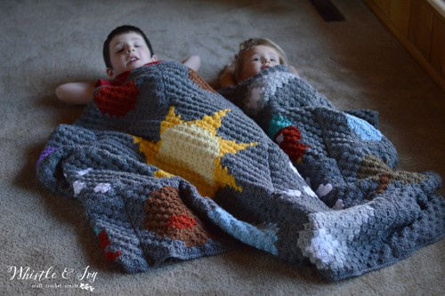 C2C Solar System - free crochet blanket patterns