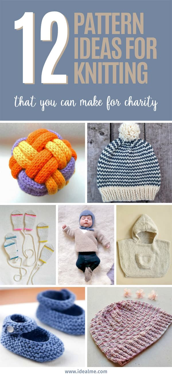 These pattern ideas for knitting are just a few of what you could make and donate to someone who truly needs it. #knittingpatterns #knitpatterns #knitforcharity #charityknits #knitting