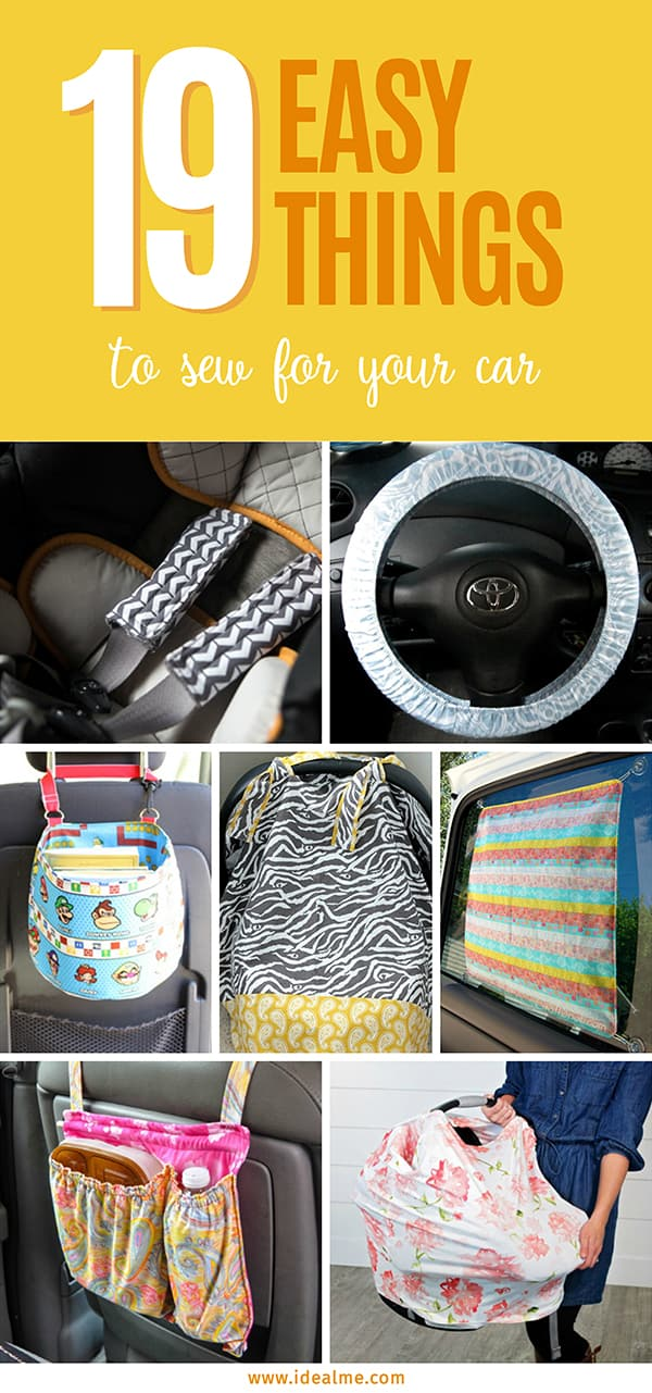 These 19 easy things to sew for your car is a great start when you're still leaning how to sew. #sewingpatterns #sewing #sewingprojects #thingstosew