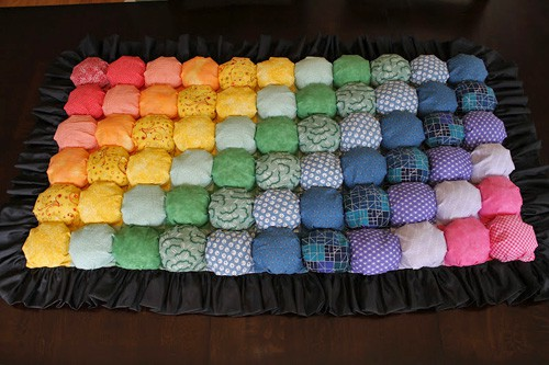 Bubble Puff Blanket - beginner quilt patterns
