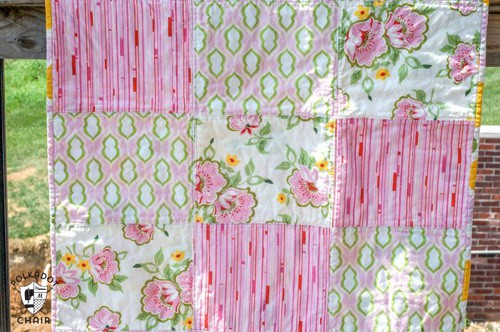 Fat Quarter Baby Quilt - beginner quilt patterns