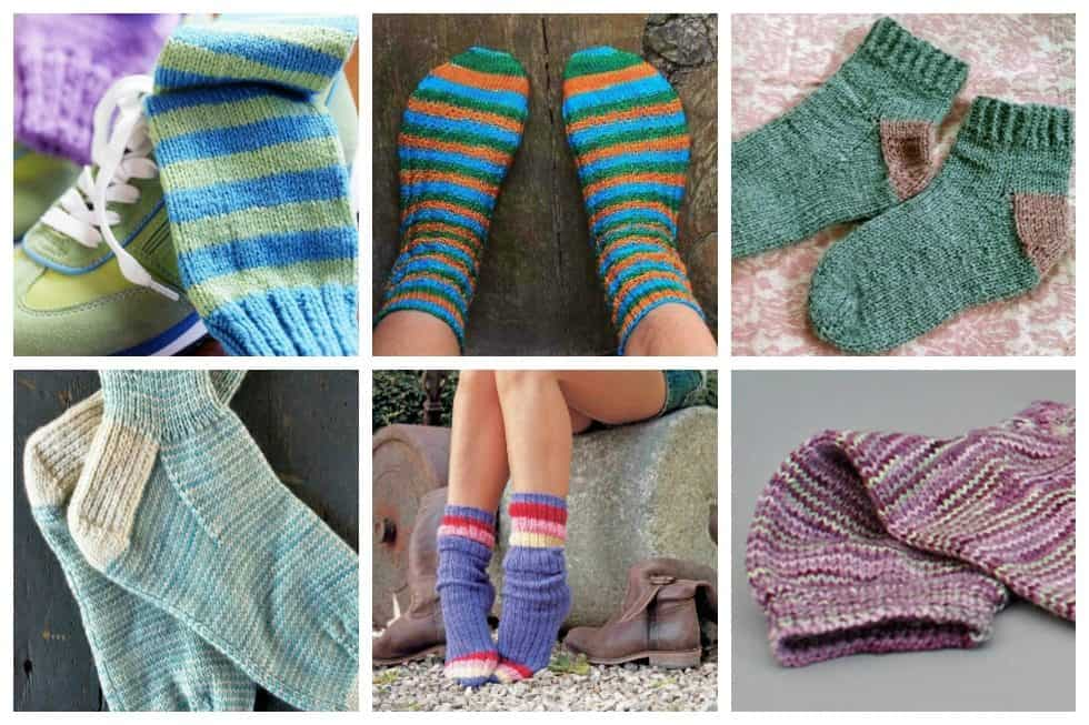 10 Simple Sock Knitting Patterns for Beginner Knitters - Ideal Me