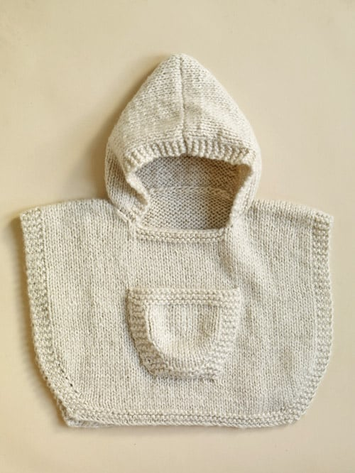 Hooded Baby Poncho - pattern ideas for knitting