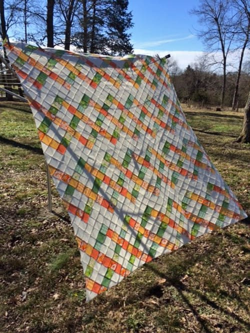 Lattice Play Nine Patch - beginner quilt patterns