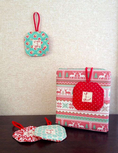 Quilted Christmas Ornaments - beginner quilt patterns