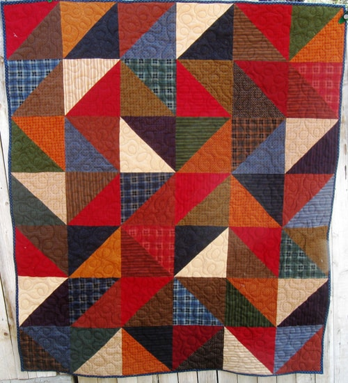 Road Home Snuggler - beginner quilt patterns