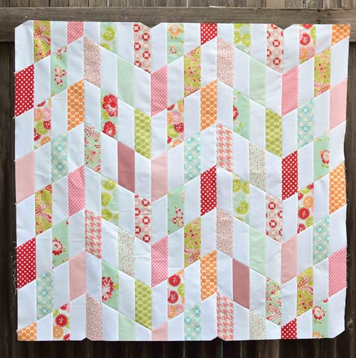 Striped Chevrons - beginner quilt patterns