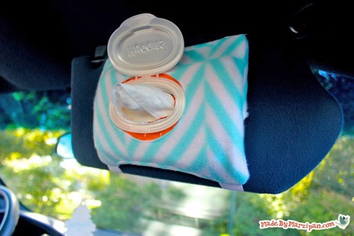 Visor Wipes Holder