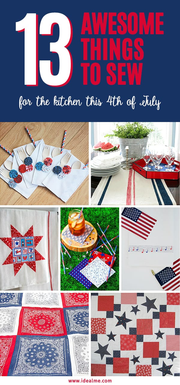 Awesome Things To Sew For The Kitchen This 4th Of July - If you're looking for things to sew for the 4th of July, stop - you need to look no further. #sewing #sewingprojects #4thofjuly #fourthofjuly