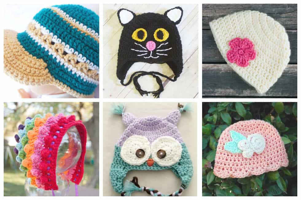 6c6a8b0e498d 24 Adorable Free Crochet Baby Hat Patterns - Ideal Me
