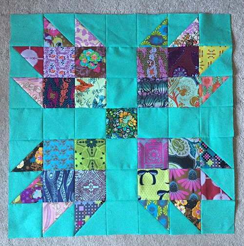Scrappy Bear Paw Quilt Blocks