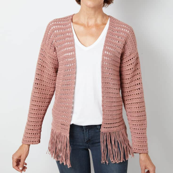 Fringe Cardigan Crochet Pattern Ideal Me